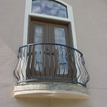 custom curved iron balcony