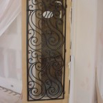 custom iron door panel