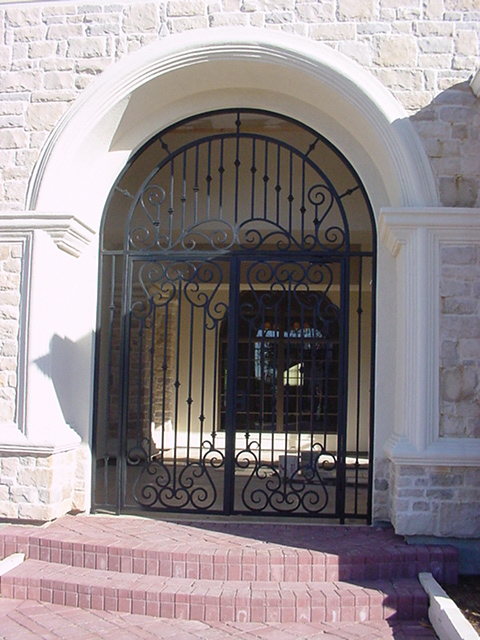 custom iron gate.