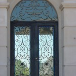 custom iron house door