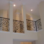 custom iron panel stair balcony 3