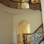 custom iron stair balcony 9