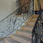 custom iron stair panels