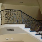 custom iron stair panels 2