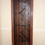 custom iron wine door