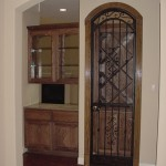 custom iron wine door 3