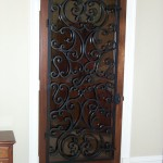 custom iron wine door 7