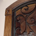 custom wine door with finished wood