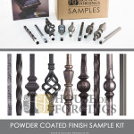 Sample kit includes all nine powder coated finishes & patinas