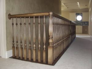 Stained Wood Balusters