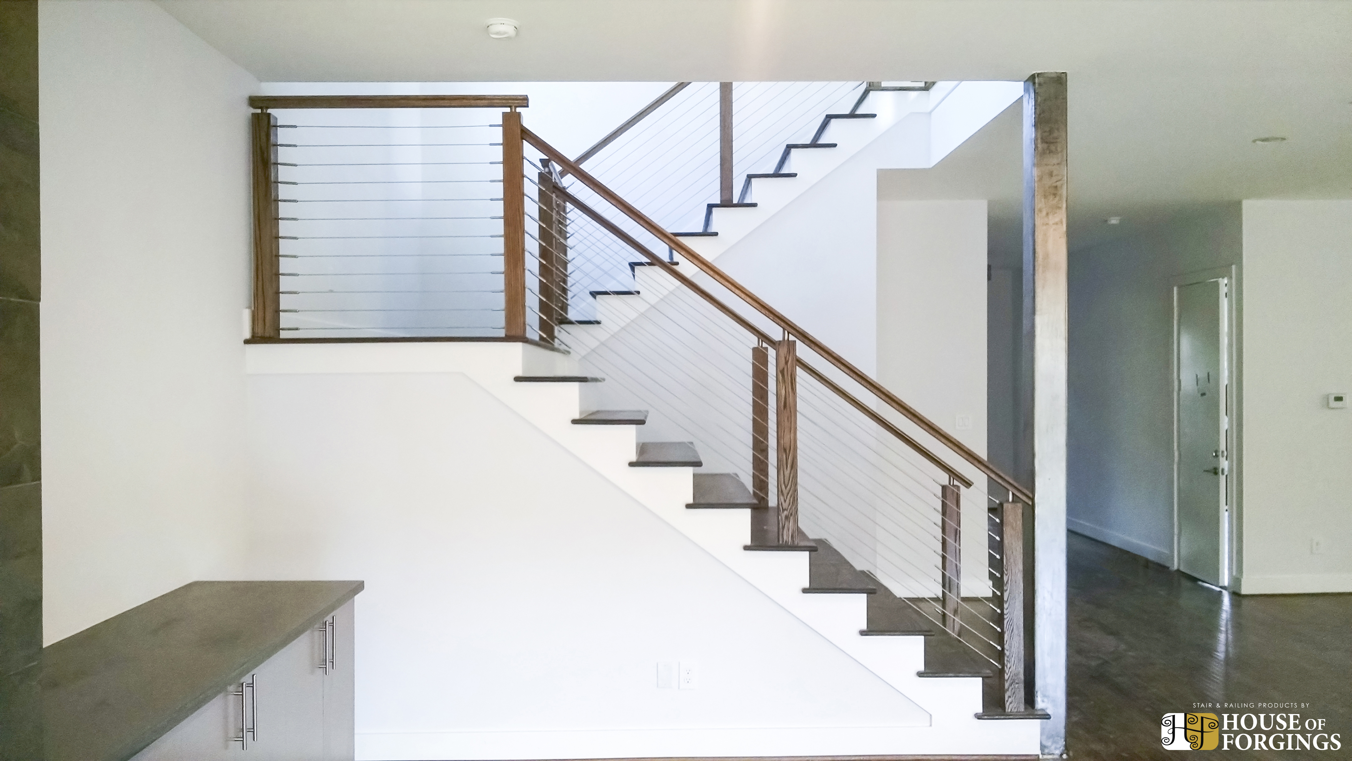 Cable railing systems for stairs balconies - How to install interior stair railings ...