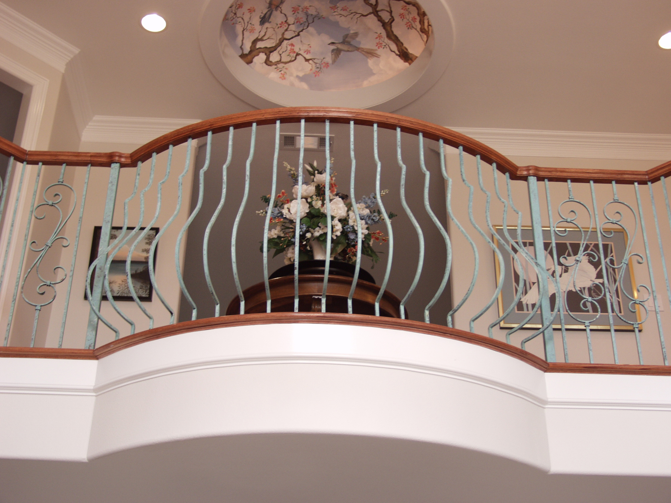 Belly Balusters And Plain Scroll House Of Forgings Stair