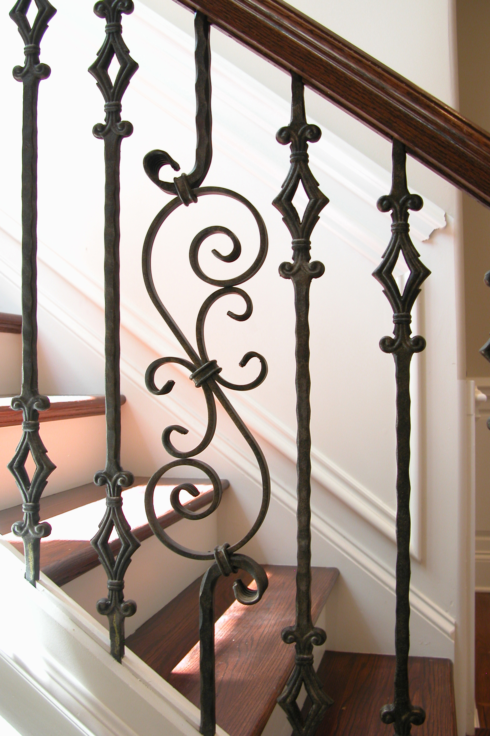Tuscan Square Diamond Baluster Spiral Scroll House Of
