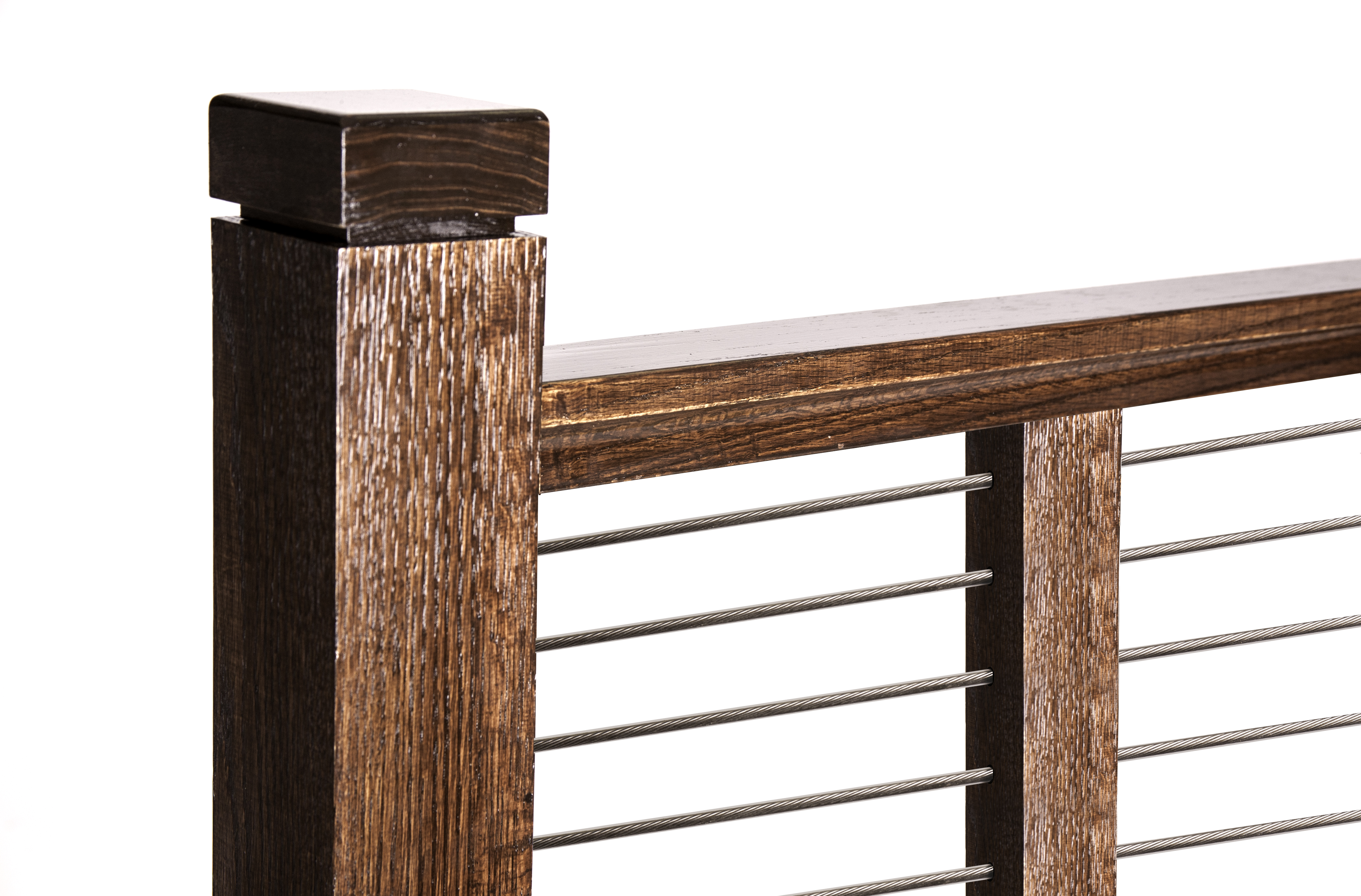 Cable Rail Modern Newel Post And Square Cap U2013 House Of Forgings   Stair And  Railing Products