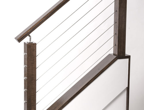 Cable Rail Staircase Model