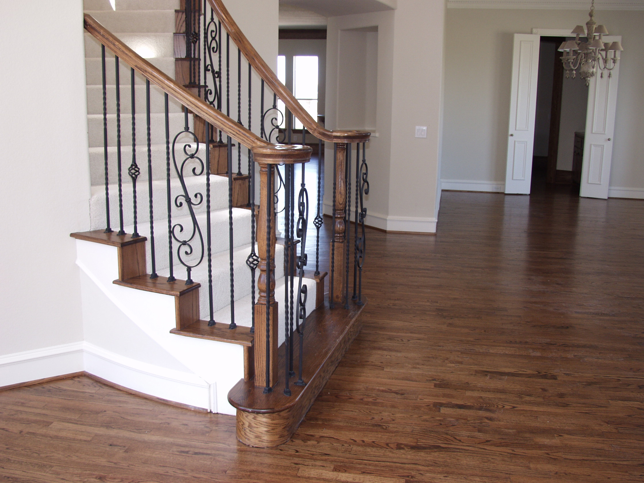 Popular iron baluster patterns for stair remodel by series for Spiral staircase square