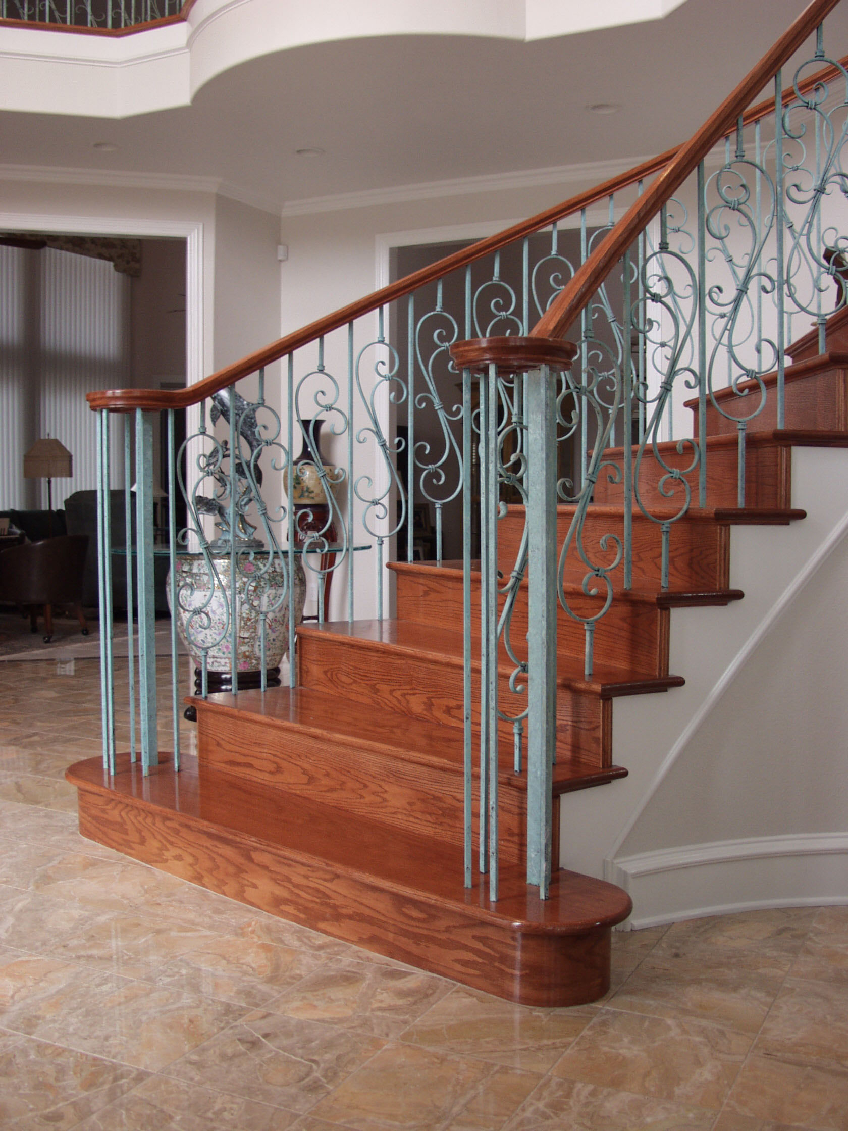 Gentil Plain Square Balusters And Spiral Scroll U2013 House Of Forgings | Stair And  Railing Products