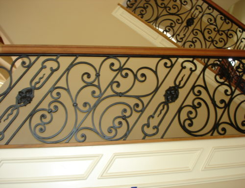 Square Iron Spiral Panels
