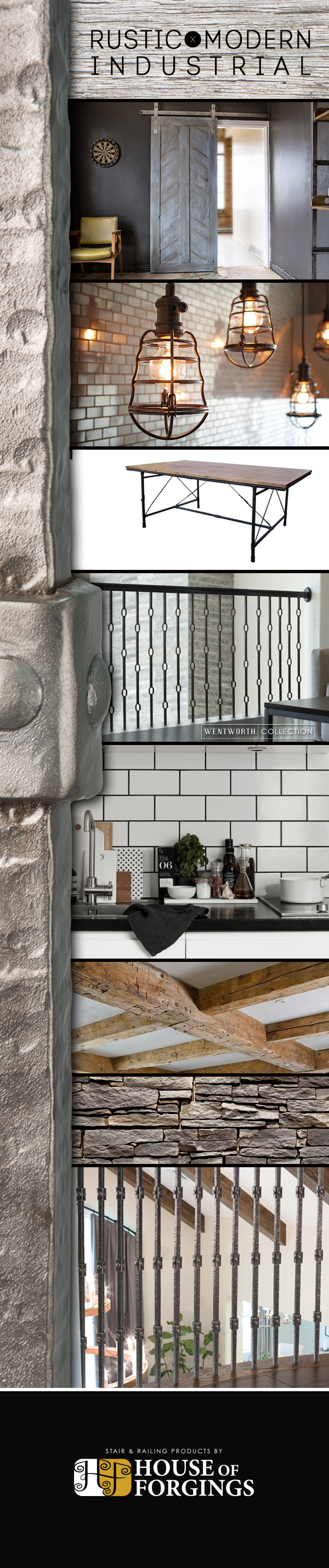 Rustic Modern Industrial - Wentworth Lookbook