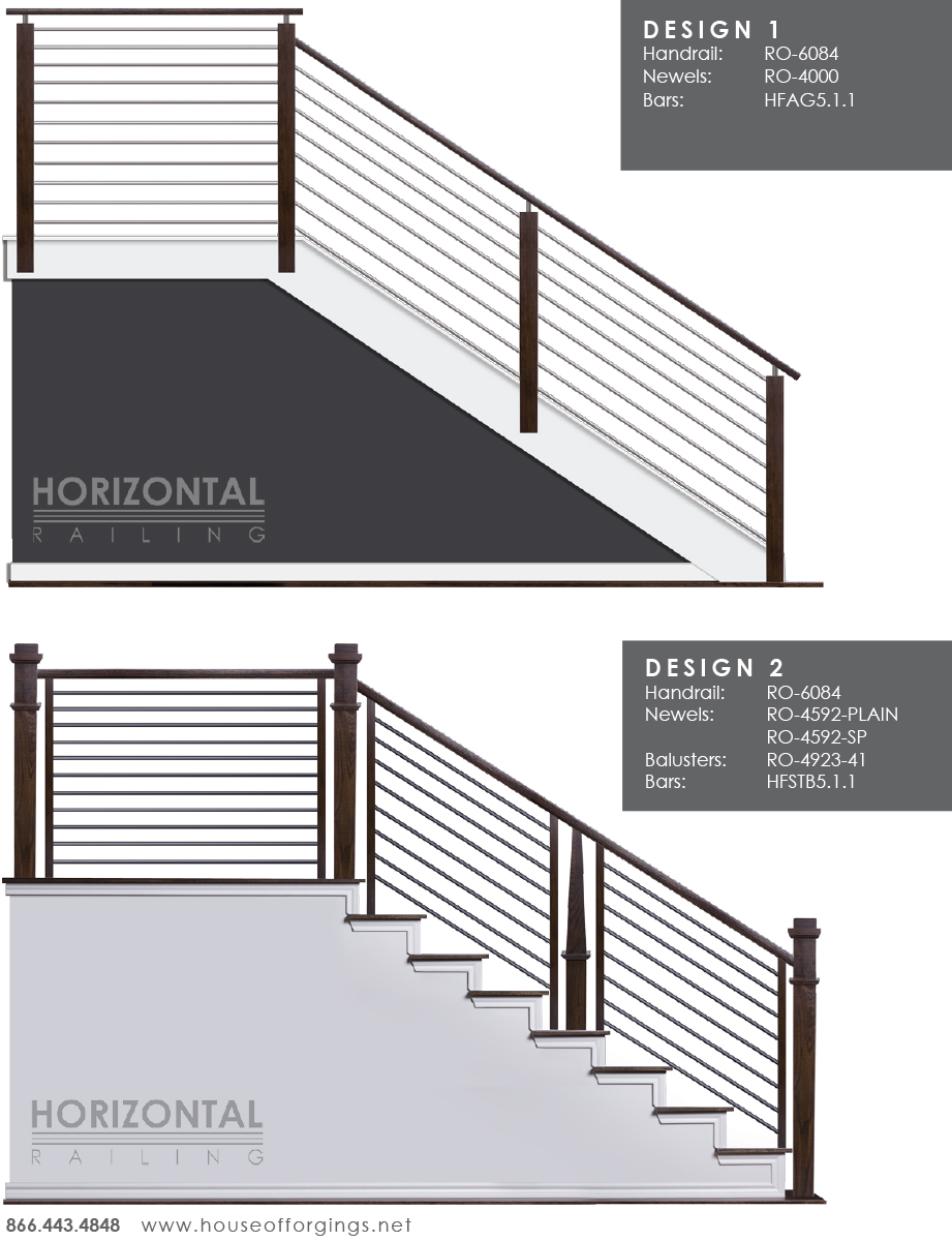 Affordable horizontal railing now available for Horizontal house plans
