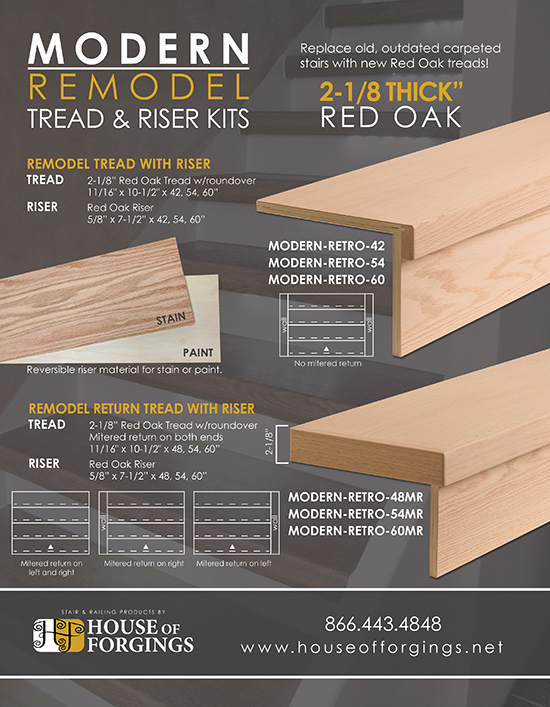Retro Stair Tread And Riser Kit - Photos Freezer and Stair
