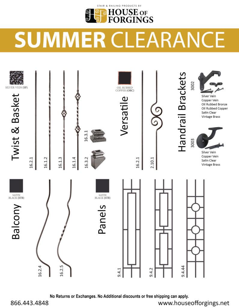 SUMMER 2018 CLEARANCE