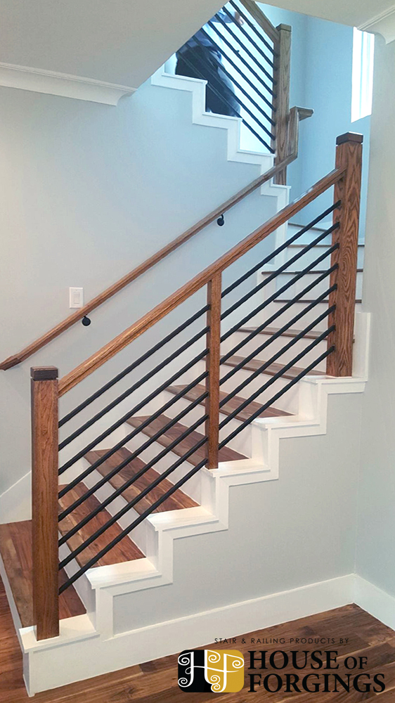 Horizontal Railing Affordable Modern Staircases